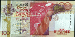 ♛ SEYCHELLES - 100 Rupees Nd.(2001) {sign. Norman Weber In  Purple Ink} UNC P.40 A - Seychelles