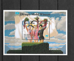 Olympische Spelen , Sierre Leone  - Blok Postfris - Unclassified