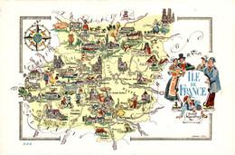 CARTE GEOGRAPHIQUE   ILE De FRANCE - Maps