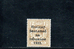 IRLANDE 1922-3 * SURCH. THOM AND CO. - Ongebruikt