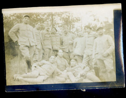 Photo Originale En Champagne Février  1918  Groupe De Militaires   NOV20-06 - Oorlog, Militair