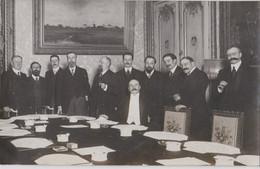 Rare Carte Photo Politique Le Gouvernement Joseph Caillaux 1911-1912 On Reconnaitra Messimy, Klotz, Pams, Couyba .... - Persone Identificate