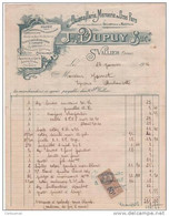 26 SAINT VALLIER  QUINCAILLERIE MERCERIE Jh. DUPUY 1926  -  M2 ST Drome - 1900 – 1949