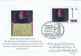 Ganzsache 06886 Lutherstadt Wittenberg - Prof. Martin Pollich - Kurfürstlicher Leibarzt - Leucorea  Universität 2013 - Medicine