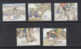 2003 New Zealand Sheepshearing Dogs  Complete Set Of 5 MNH @ BELOW FACE VALUE - Unused Stamps