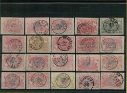 VA-3237    POSTSTEMPEL  ( B ) OP  20   SPOORWEGZEGELS    Diverse Stempeltypes - 1895-1913