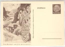 """1941, """" Im Kampf Um Die Freiheit """", Propaganda -Ganzsache, P242 A, Gebirgsjäger, Narvik - Stamped Stationery"""