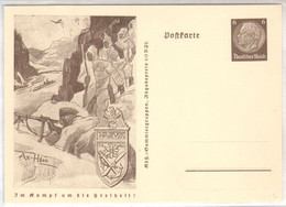"""1941, """" Im Kampf Um Die Freiheit """", Propaganda -Ganzsache, P242 B, Gebirgsjäger, Narvik - Stamped Stationery"""