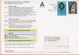 ONU - NAZIONI UNITE - UNITED NATIONS - NATIONS UNIES - 2002 - 0,60 Drogue + 0,70 Assemblée Générale -Viaggiata Da Genève - Cartas