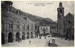 64 - B56949CPA - BEDOUS - ASPE - Mairie Et Eglise - Très Bon état - PYRENEES-ATLANTIQUES - Unclassified