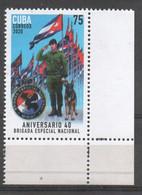 Cub2020 40th Anniversary Of Special Force Brigade, Police, Gendarme, Policia, Dog, Perro 1v MNH - Perros