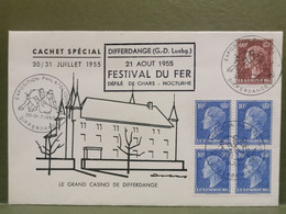 Differdange, Festival Du Fer 1955. - FDC
