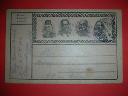 Emperors Wilhelm II And Franz Joseph,Turkey Bulgaria Royalty,105 Military Stamp,WWI Feldpost Tabori Post,vintage PC - Briefe U. Dokumente