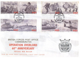 (V 24) UK Isle Of Man (with Insert) Operation Overlord 60th Anniversary (1944-2004) WWII Event - Isla De Man
