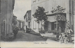 "CABANNES "" Grand'rue , Grosse Animation ""    N°4076 - Otros Municipios"