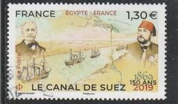 FRANCE 2019 LE CANAL DE SUEZ OBLITERE YT 5347 - 2010-.. Matasellados