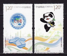 China, 2018, International Exhibition, Panda, 2 Stamps - Bears