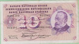 Suisse - Billet De 10 Francs - Gottfried Keller - 22 Décembre 1960 - P45f - Switzerland
