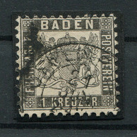 Baden: 1 Kr. MiNr. 17 1862 Gestempelt / Used / Oblitéré - Baden