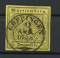 "Württemberg: 3 Kr. MiNr. 2 1851 ""Göppingen"" Gestempelt / Used / Oblitéré - Wuerttemberg"