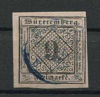 Württemberg: 9 Kr. MiNr. 4 1851 Gestempelt / Used / Oblitéré - Wuerttemberg