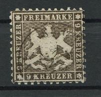 Württemberg: 9 Kr. MiNr. 28 1862 Gestempelt / Used / Oblitéré - Wuerttemberg