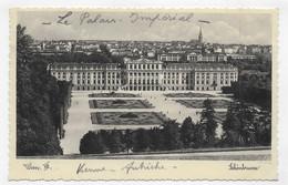 (RECTO / VERSO) WIEN EN 1936 - N° 1009 - CHATEAU DE SCHÖNBRUNN - BEAU TIMBRE ET FLAMME JEUX OLYMPIQUES 1936 - CPA - Castello Di Schönbrunn