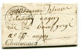 MAINE ET LOIRE De CHAUDEFONDS LAC Du 18/01/1834 Cursive De CHALONNES Taxée 1 Pour ANGERS - 1801-1848: Precursors XIX
