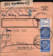 ! 1942 Wien Mödling,  Österreich Nach Altenburg, Bogenrand, Paketkarte,  Deutsches Reich, 3. Reich - Covers & Documents