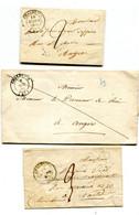 MAINE ET LOIRE De CHALONNES 1 LAC De 1839+ 2 LSC De 1843 Et 1846 Avec Dateur T 14 - 1801-1848: Precursors XIX