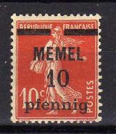 Memel 1920 Mi 19 X * [081120L] - Memel (Klaïpeda)