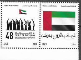 UAE, 2019, MNH, SPIRIT OF THE UNION, NATIONAL DAY, FLAGS,2v - Briefmarken