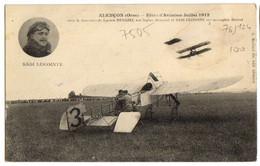 1912 ALENCON - FETES AVIATION Aviateur LECOINTE Sur Monoplan Blériot Animée - Alencon