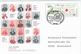 Ganzsache Genfer Konvention Rotes Kreuz - Steiner Volz Visschers Fenger Jagerschmidt Brodrück Capello Baroffio Hahn - EHBO