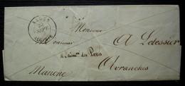 Alger 1841 (Algérie) Lettre Pour Avranches Manche, à L'adresse Des Postes - 1801-1848: Precursori XIX