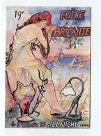 C.P °_ Salon-19ème Foire à La Brocante-Allanche-15-Aout 1995 ° NEUVE - Sammlerbörsen & Sammlerausstellungen