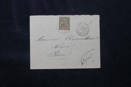 NOUVELLE CALÉDONIE - Type Groupe Sur Enveloppe De Port Vila ( Nouvelles Hébrides ) Pour L 'Algérie En 1903 - L 76178 - Brieven En Documenten