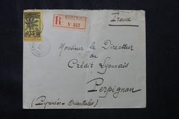 CÔTE D'IVOIRE - Type Palmier Sur Enveloppe En Recommandé De Bingerville Pour La France En 1913 - L 76179 - Briefe U. Dokumente