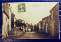 SAINT BRIS DES BOIS.. LA GRANDE RUE ..GIN576 - Autres Communes