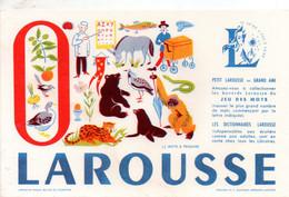 """Buvard -Larousse - Lettre """"O"""" - Jeu Des Mots - Voir Scan Pour état - L"""