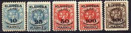 Memel / Klaipeda 1923 Mi 135-137; 139-140 * (Mi 137 (*)) [081120L] - Klaipeda