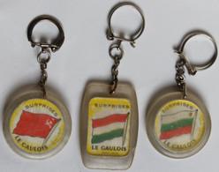 Lot De 3 Porte Clefs Football 1966 Coupe Du Monde Angleterre équipe Hongrie Bulgarie URSS World Cup Le Gaulois - Kleding, Souvenirs & Andere