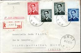 LETTRE RECOMMANDEE 1963 - POSTEE A GAND (GENT) - - Brieven En Documenten