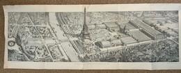 Grand Plan De L'Exposition Universelle De Paris 1889 / Tour Eiffel / Supplément Du Monde Illustré - Historical Documents