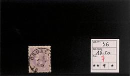 [817612]TB//O/Used-c:19e-Belgique 1869 - N° 36, Bruxelles, Rois - 1869-1883 Leopold II