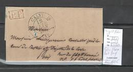 France -Lettre De CALVI - CALENZANA - Corse - Port Payé Pour Paris -1835 -Type 12 - 1849-1876: Periodo Clásico