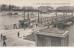 N° 8177 R -cpa Cette -station Balnéaire, Le Nouveau Ont De La Gare- Tramway- - Sete (Cette)