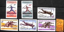 [836275]TB//**/Mnh-c:75e-République Du Congo 1964 - N° 545/50,  Jeux Olympiques, Athlétisme - Republic Of Congo (1960-64)