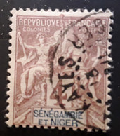 SENEGAMBIE ET NIGER  1903 , Type Groupe Yvert No 3, 4 C Lilas Brun Obl  KAYES ,TB - Used Stamps