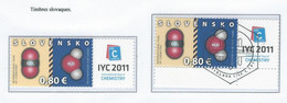 COB  4096  (MNH) + (°)  Emission Commune - Timbres De Slovénie Avec Oblitération Premier Jour - Ungebraucht